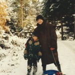 J with Robert in Norway 1997