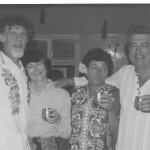 Jacq, Bob, Mary, Ced in Denhams 1976