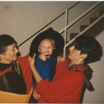 J's 2nd doctorate from Macquarie 1995 with grandson and daughter Kate